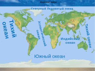 Мировой океан Тихий океан Атлантический океан Индийский океан Тихий океан Сев