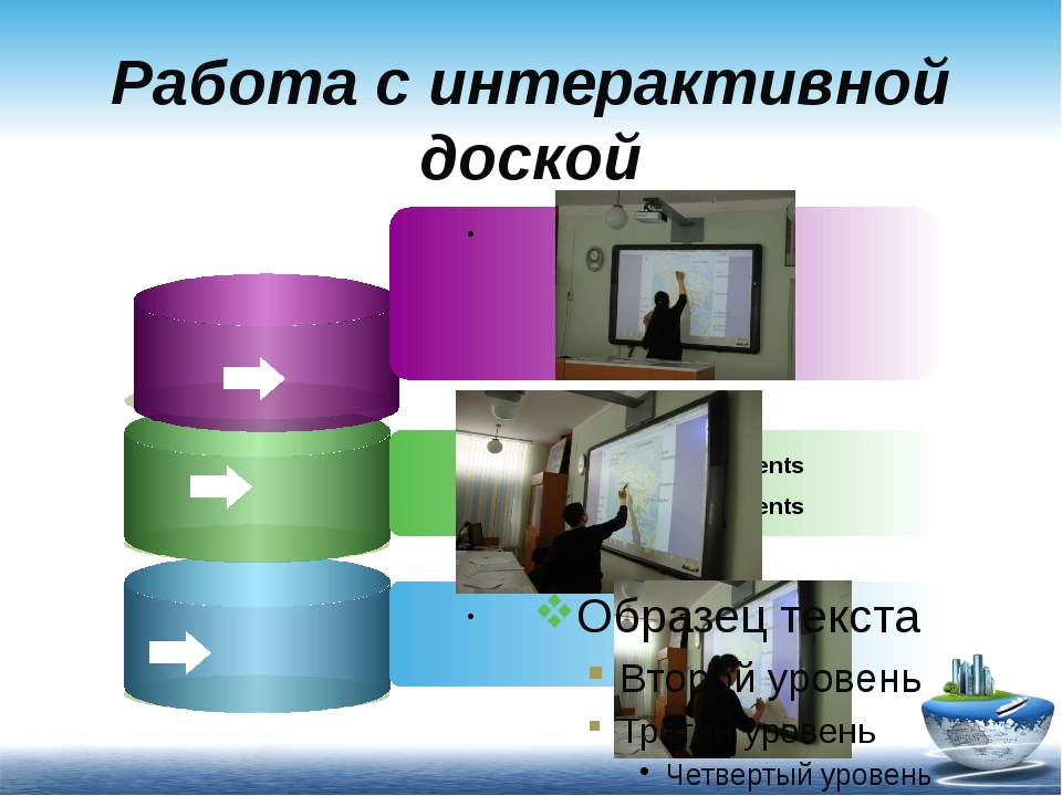 Работа с интерактивной доской Description of the contents Description of the...