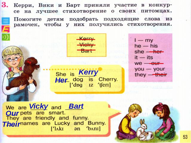 Kerry Her Vicky Bart Our Their