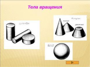 ВИДЫ ТЕЛ ВРАЩЕНИЯ Цилиндр - тело, которое описывает прямоугольник при вращени