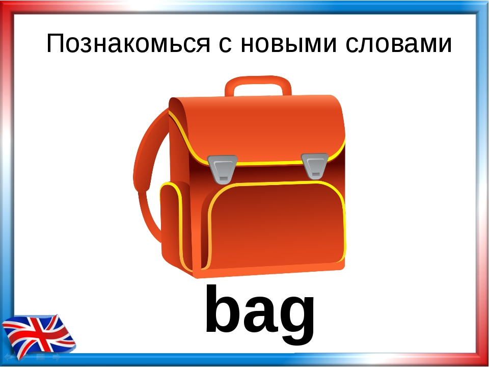 bag Познакомься с новыми словами