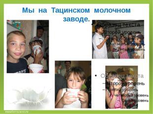 Мы на Тацинском молочном заводе. musafirova.ucoz.ru