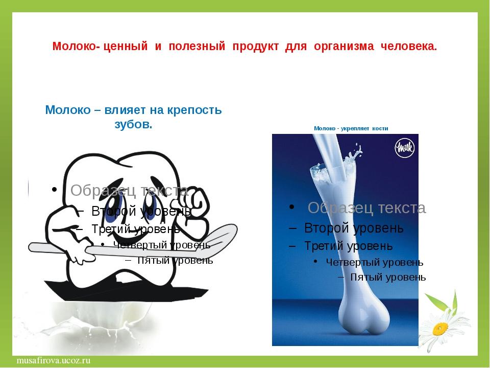 Молоко- ценный и полезный продукт для организма человека. Молоко – влияет на...