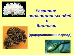 Развитие эволюционных идей в биологии (додарвиновский период)