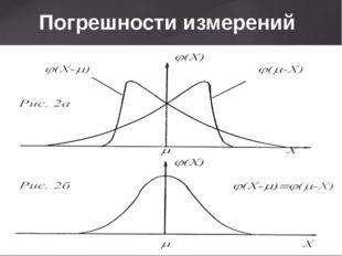 Погрешности измерений