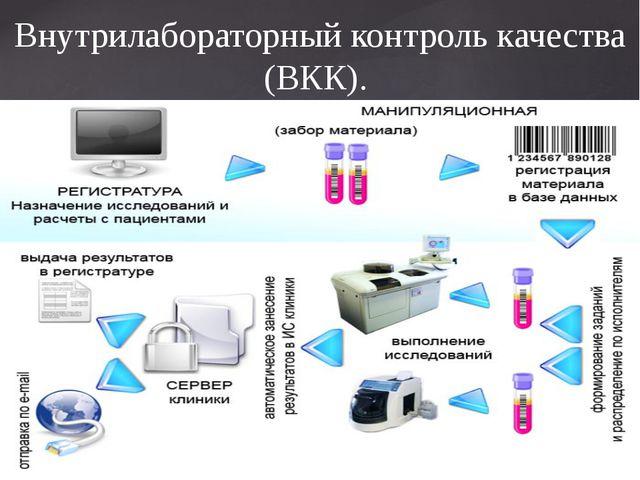 Внутрилабораторный контроль качества (ВКК).