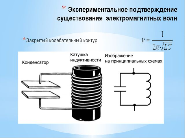 Экспериментальное подтверждение существования электромагнитных волн Закрытый...