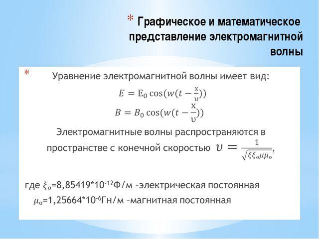 Графическое и математическое представление электромагнитной волны