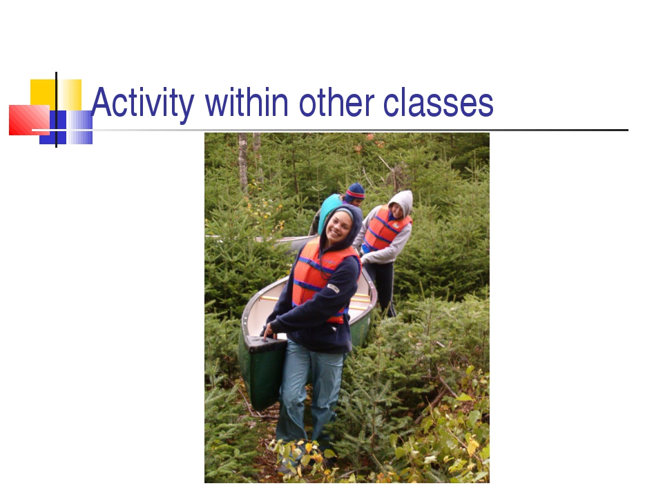 Activity within other classes