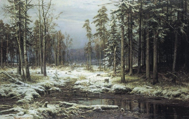 Первый снег, Шишкин Иван Иванович. 1000x634. 1875. Просмотро…