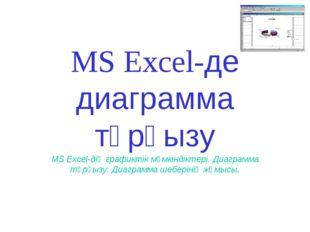MS Excel-де диаграмма тұрғызу MS Excel-дің графиктік мүмкіндіктері. Диаграмма