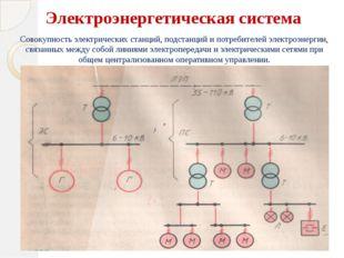 Электроэнергетическая система Совокупность электрических станций, подстанций