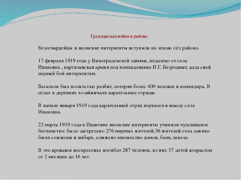 Ивановский район, ты ещё так молод, Ведь восемьдесят пять – срок небольшой! Н...