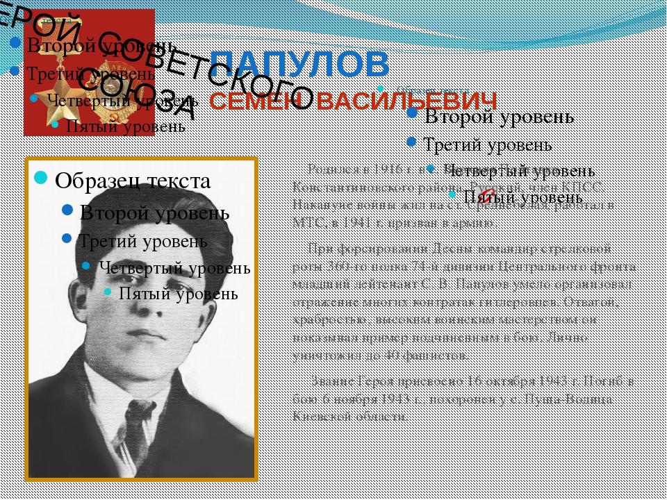 ДНЕПРОВСКИЙ ПЕТР ПАВЛОВИЧ Родился в 1923 г. в с. Семиозерке Ивановского район...