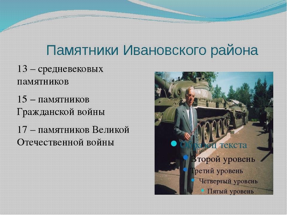 Славится Земля Ивановского района талантливыми людьми
