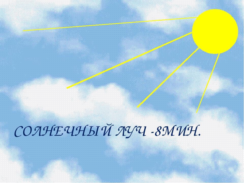 СОЛНЕЧНЫЙ ЛУЧ -8МИН.