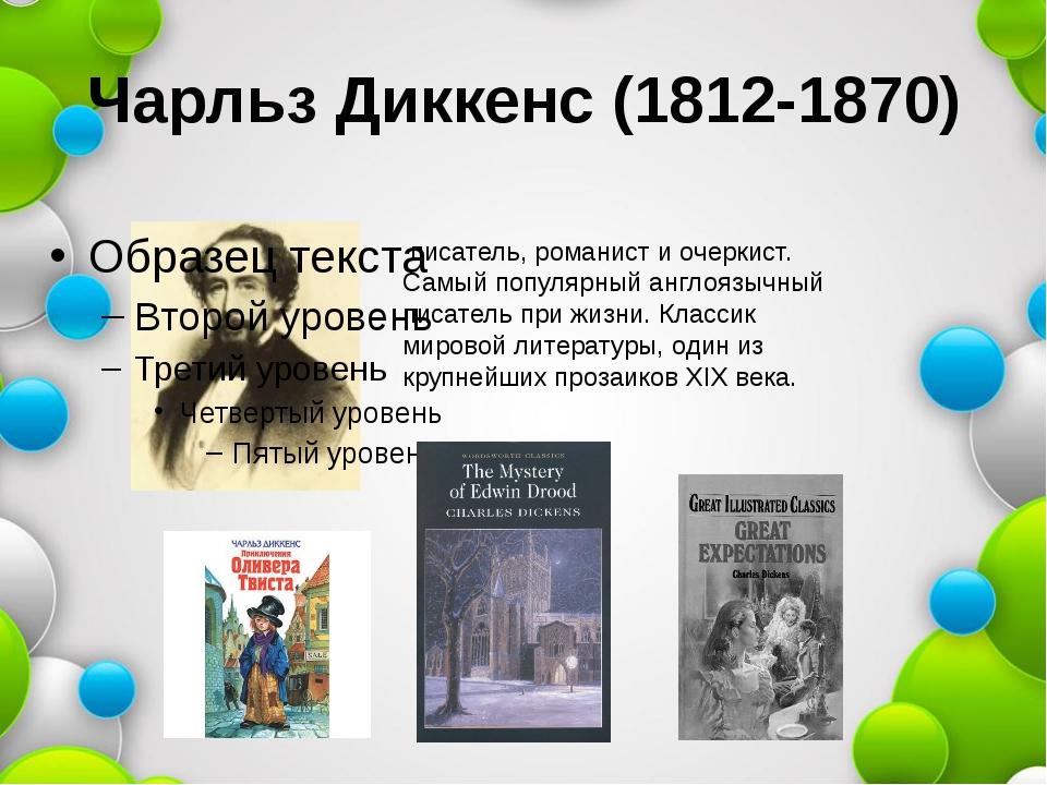 Чарльз Диккенс (1812-1870) писатель, романист и очеркист. Самый популярный а...