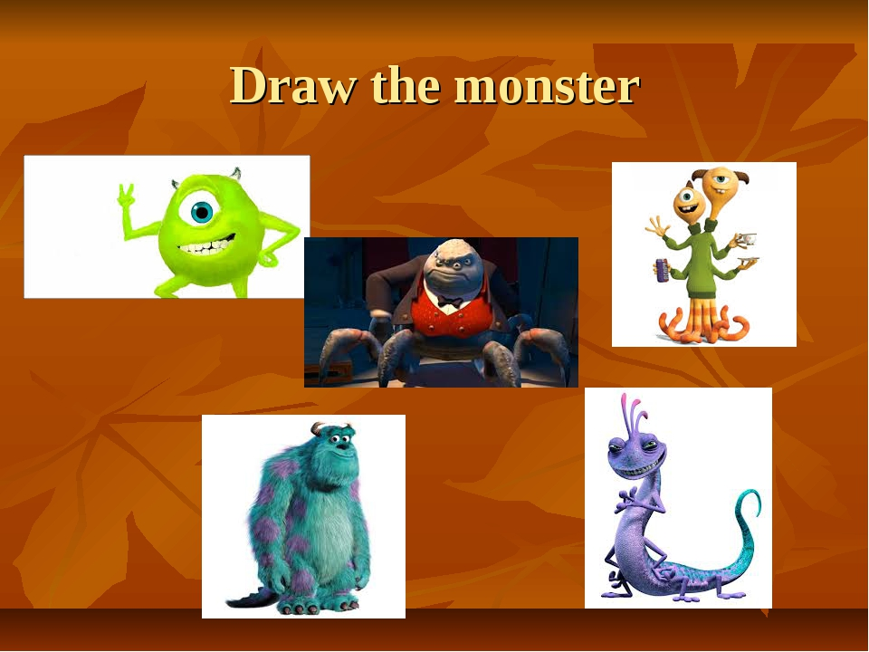 Draw the monster