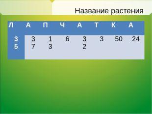 Название растения ЛАПЧАТКА 3 5 3 7 1 3 63 23 5024