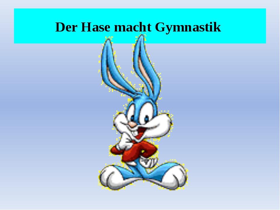 Der Hase macht Gymnastik