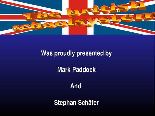 Was proudly presented by Mark Paddock And Stephan Schäfer