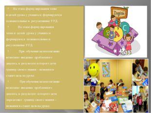 На этапе формулирования темы и целей урока у учащихся формируются познавател