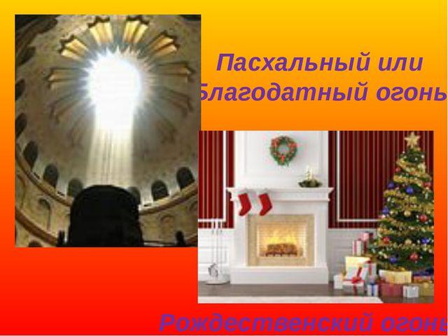 Пасхальный или Благодатный огонь Рождественский огонь