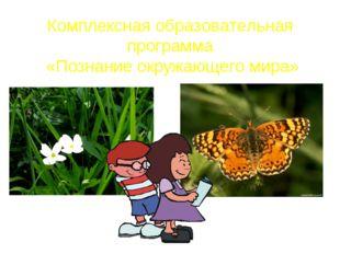 Комплексная образовательная программа «Познание окружающего мира»