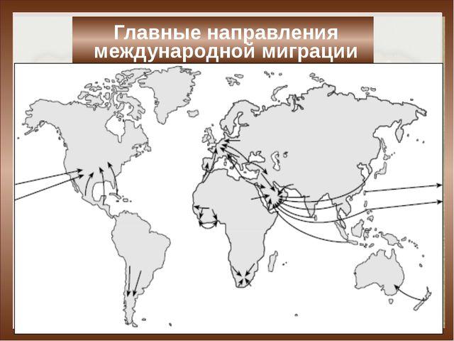 Главные направления международной миграции Из развивающихся стран в промышле...