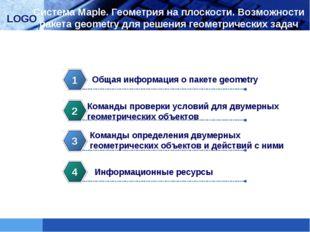 Система Maple. Геометрия на плоскости. Возможности пакета geometry для решени