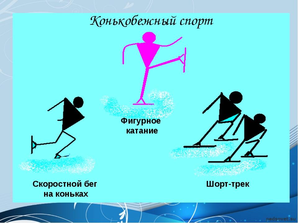 Скоростной бег на коньках Фигурное катание Шорт-трек Конькобежный спорт