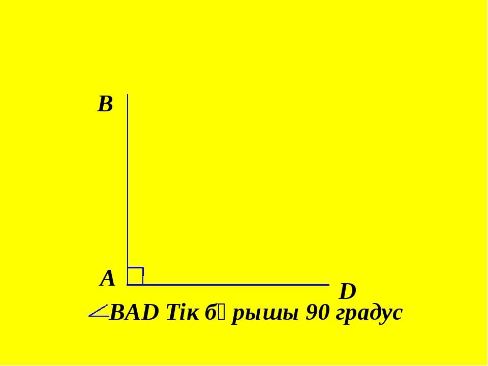 A B D ВAD Тік бұрышы 90 градус