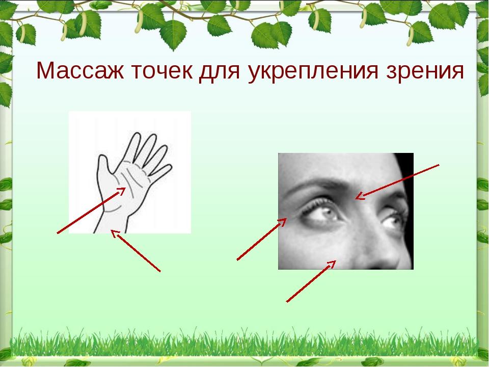 Массаж точек для укрепления зрения