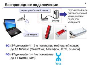 * Беспроводное подключение спутниковый или оптоволоконный канал связи с серве