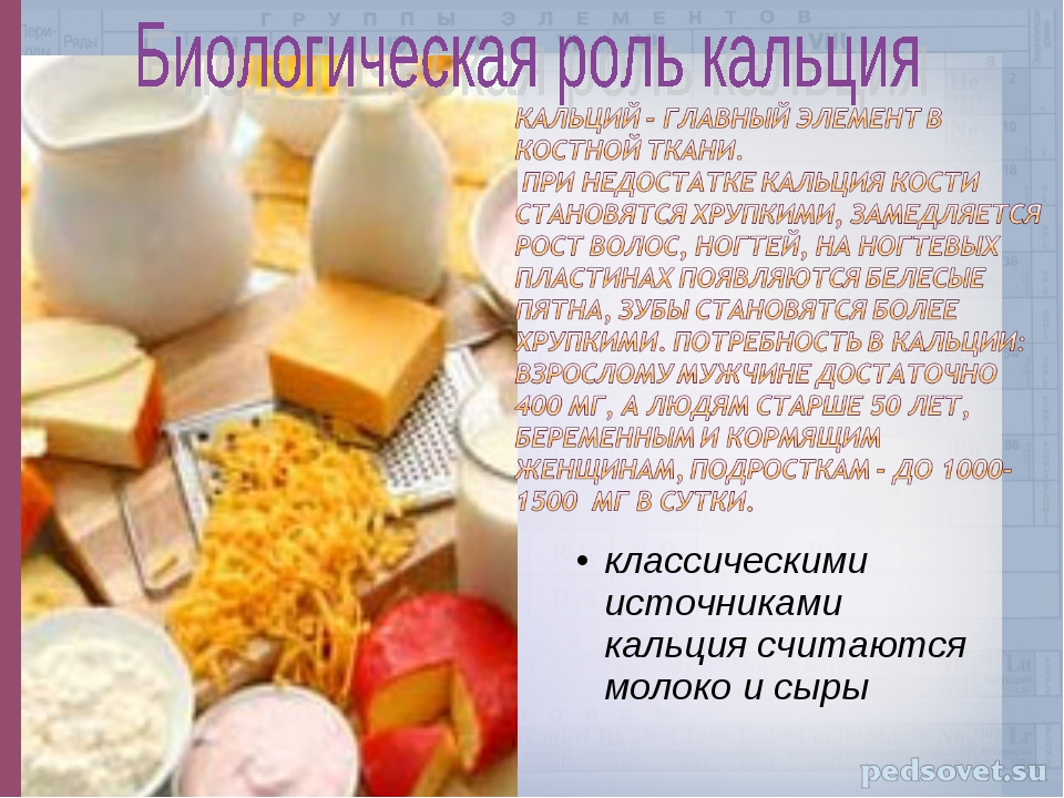 классическими источниками кальция считаются молоко и сыры