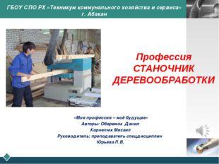 ГБОУ СПО РХ «Техникум коммунального хозяйства и сервиса» г. Абакан «Моя проф