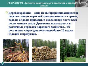 ГБОУ СПО РХ «Техникум коммунального хозяйства и сервиса» г. Абакан Деревообра