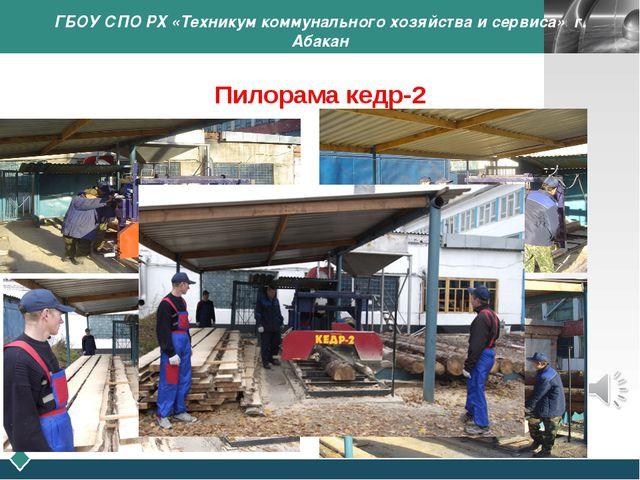 ГБОУ СПО РХ «Техникум коммунального хозяйства и сервиса» г. Абакан Пилорама к...