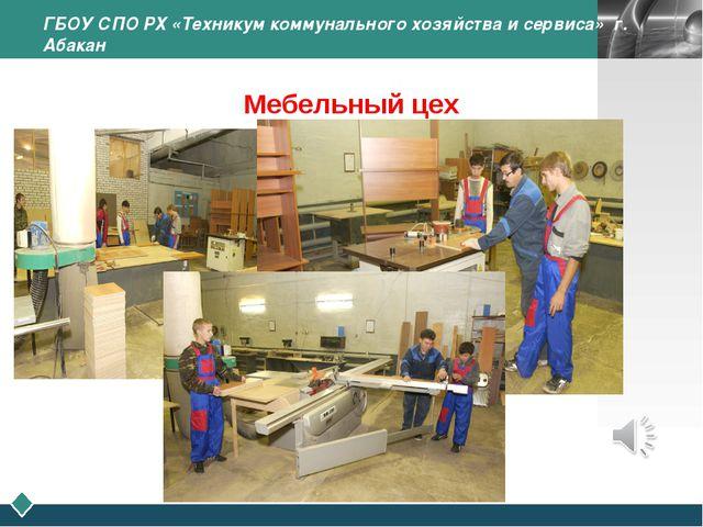 ГБОУ СПО РХ «Техникум коммунального хозяйства и сервиса» г. Абакан Мебельный...