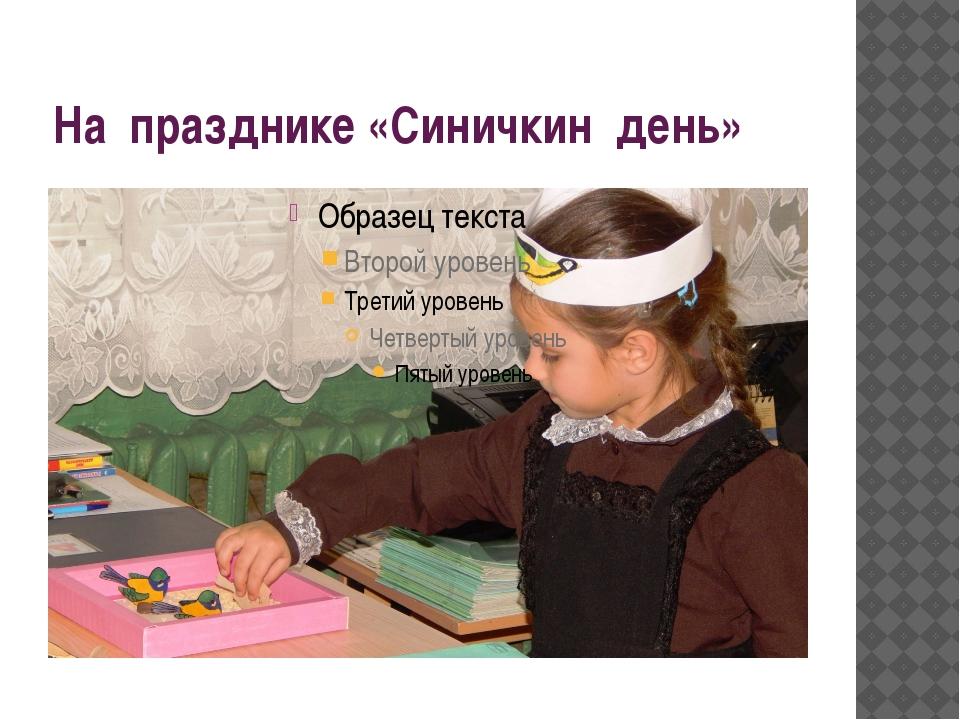 На празднике «Синичкин день»