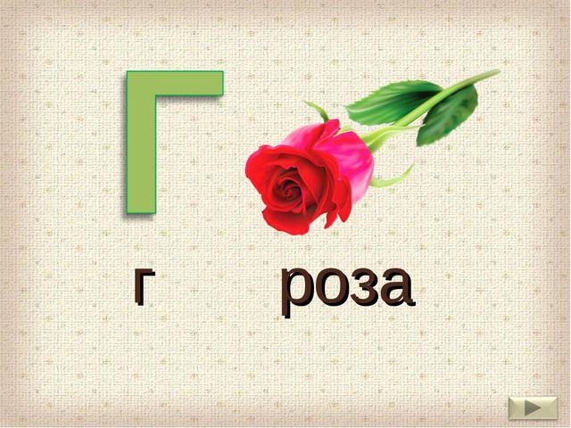 г роза