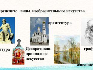 Определите виды изобразительного искусства графика живопись архитектура Декор
