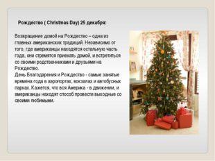 Рождество ( Christmas Day) 25 декабря: Возвращение домой на Рождество – одна
