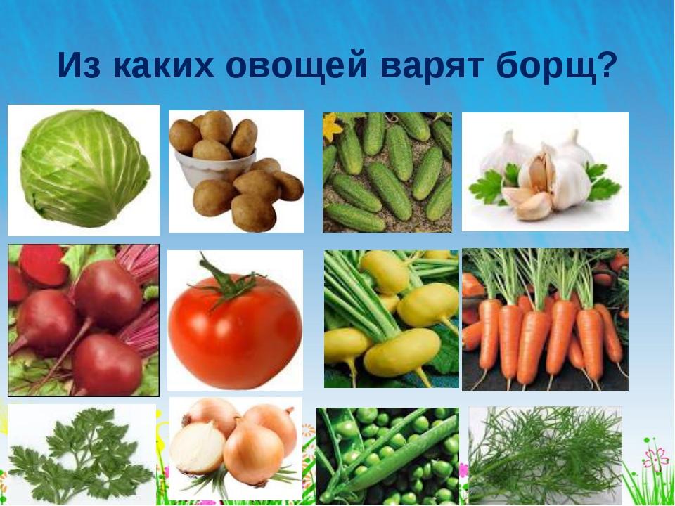 Из каких овощей варят борщ?