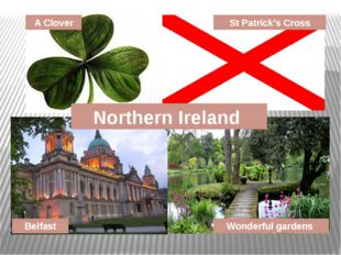 Northern Ireland A Clover St Patrick's Cross Belfast Wonderful gardens