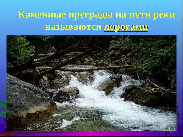 Каменные преграды на пути реки называются порогами