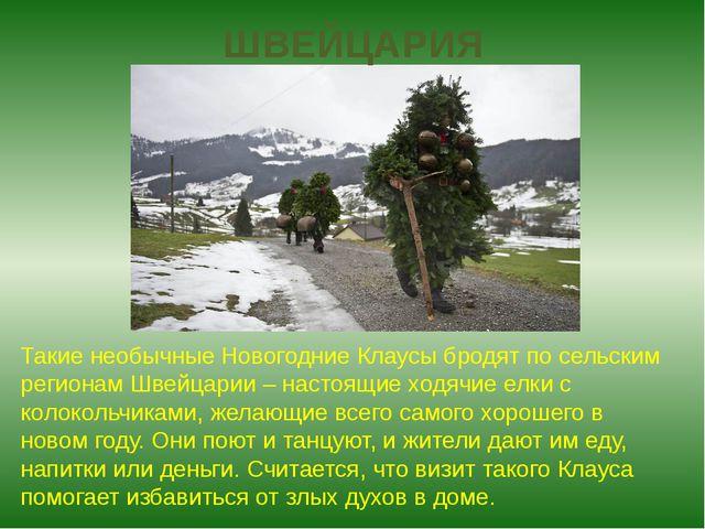 ШВЕЙЦАРИЯ Такие необычные Новогодние Клаусы бродят по сельским регионам Швейц...