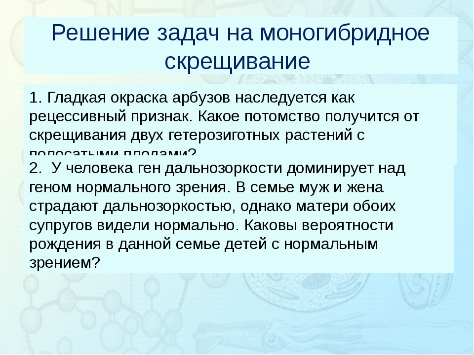Зорина Наталья Николаевна, учитель биологии и экологии Решение задач на моно...