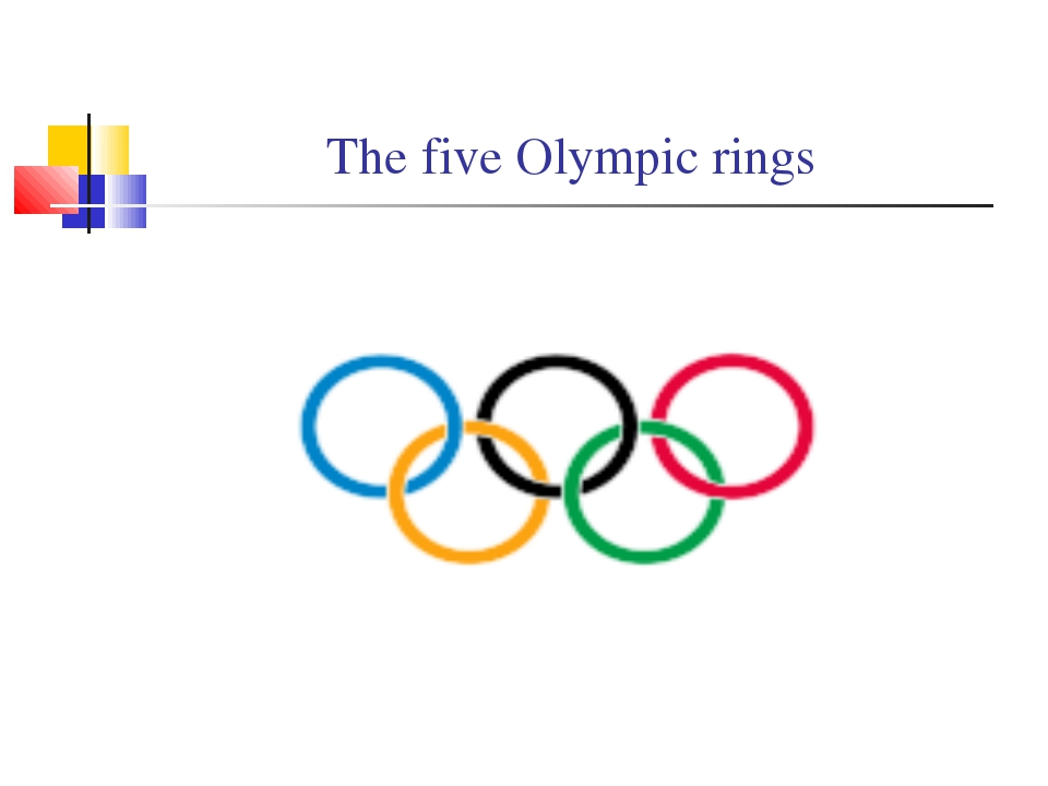 The five Olympic rings