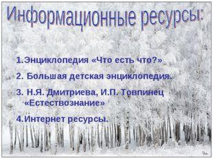 Энциклопедия «Что есть что?» Большая детская энциклопедия. Н.Я. Дмитриева, И.